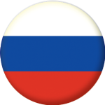 Russia Country Flag 25mm Button Badge